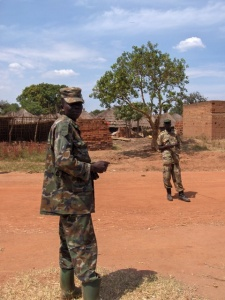 Two boys from the Local Defence Unit (LDU) in Kitgum, Northern Uganda, whose job is to protect the people at a refugee camp from attacks and kidnappings by the Lord's Resistance Army, which has been responsible for much violence in East Africa in recent years. Credit: John & Mel Kots/Flickr