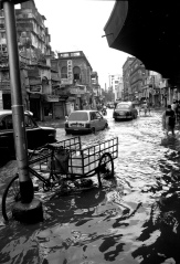 A street in Calcutta floods during monsoon season. After some decades of increasing rainfall, climate change could bring drier monsoons,  said Jacob Schewe from the Potsdam Institute for Climate Impact Research. Credit: Mark E Dyer/Flickr
